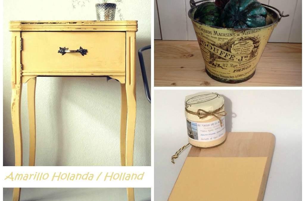 Pintar muebles de color amarillo
