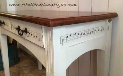 Un escritorio musical