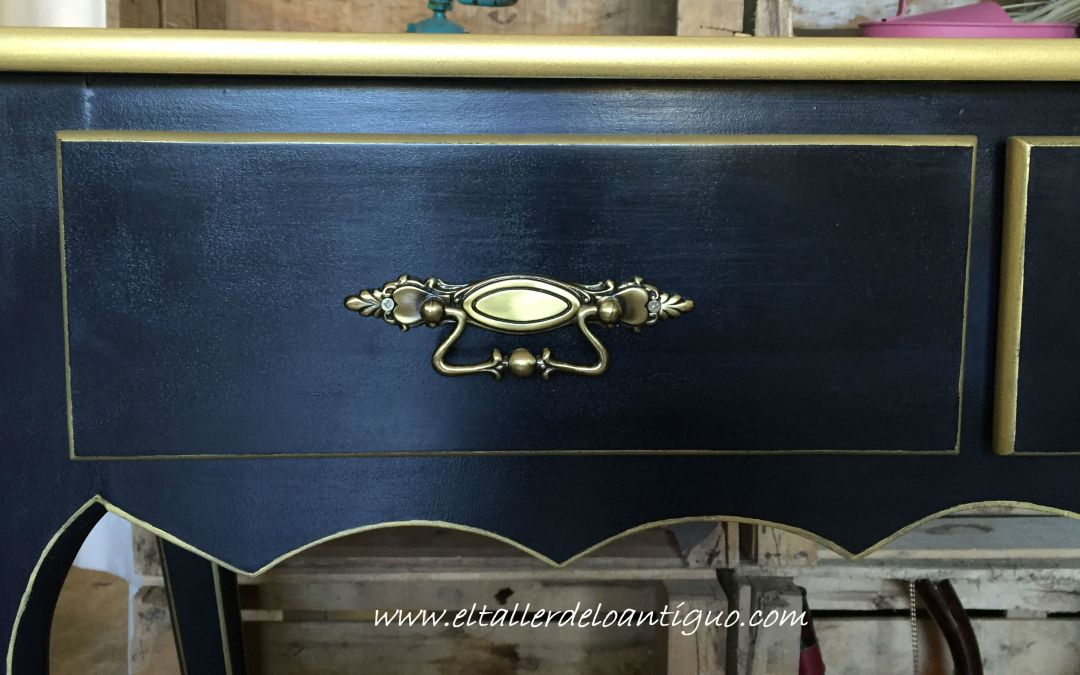 Pintar Mueble Negro y Oro