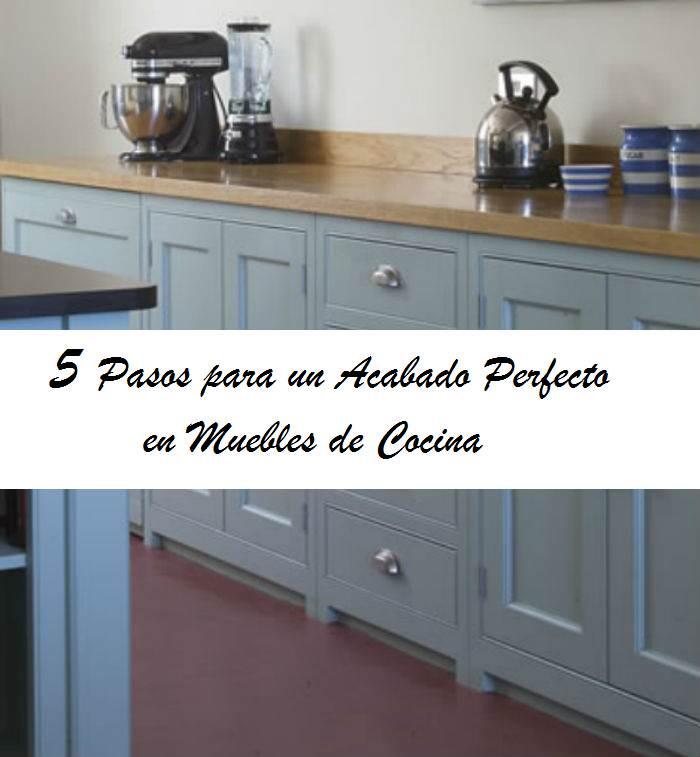5 pasos para pintar los muebles de cocina el taller de - Muebles naturales para pintar ...