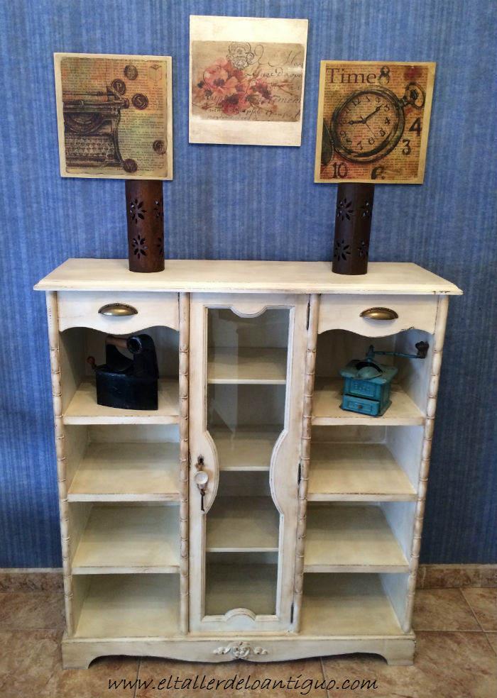 Pintar mueble rstico en blanco  El Taller de lo Antiguo