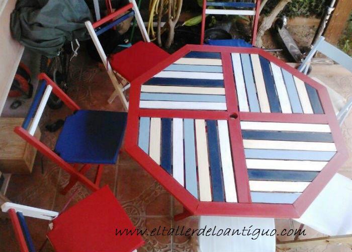 Pintamos una mesa de Teka