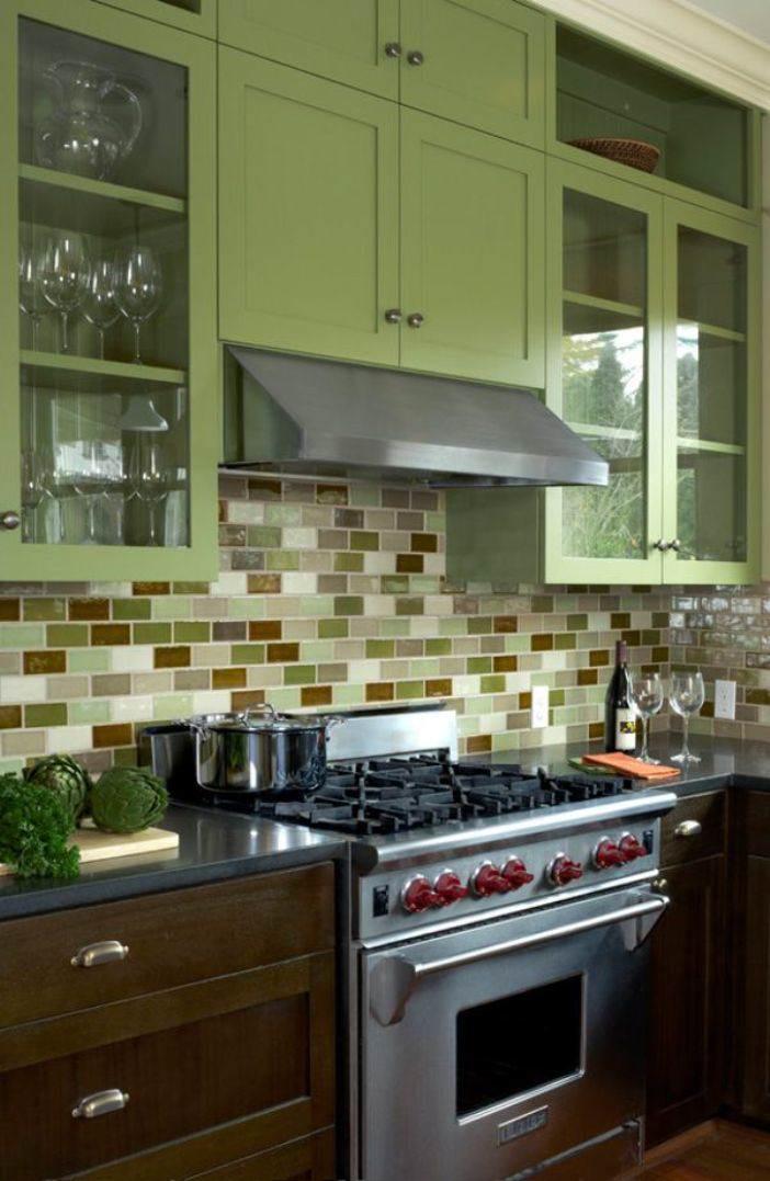 pintar cocina madera y verde musgo