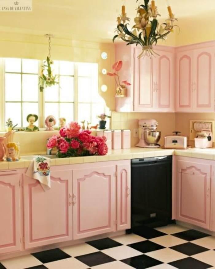 pintar cocina rosa