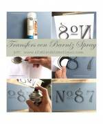 Transfers con Barniz en spray