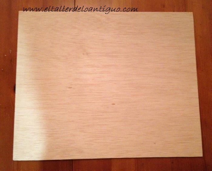 tablilla madera 30 x 30