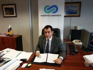 Juan José Martínez, director de Puertos de Canarias. / DA