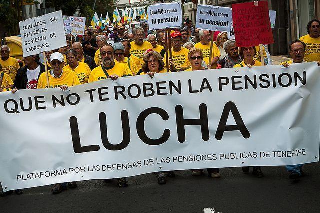 """Manifestación : """"¡Que NO te roben la pensión!"""""""