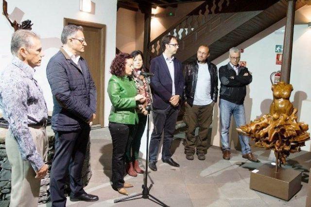 Inauguración exposición 3 Escultores en La Gomera