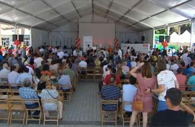 Acto del PSOE a las 12:40