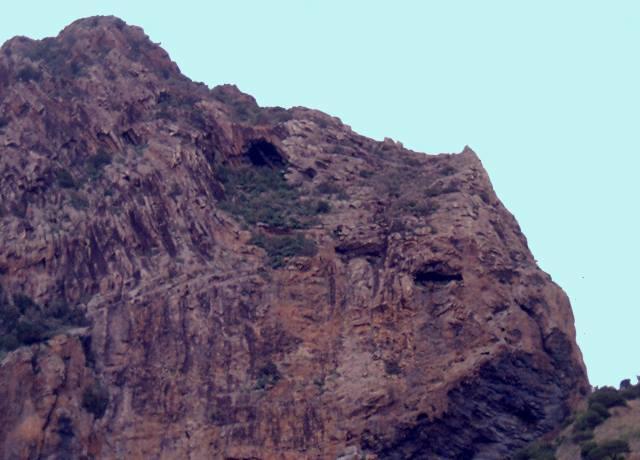 El roque Cano y la cueva del Telar en vallehermoso