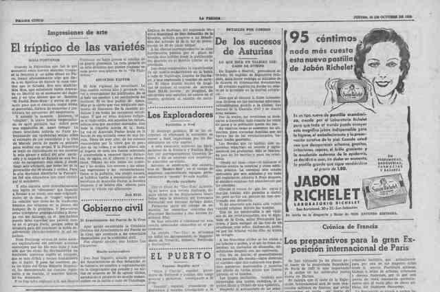 prensa noticia sobre muelle de tapahuga 1934