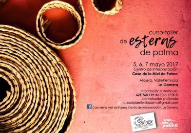 AIDER La Gomera  organiza un curso de esteras de palma en Alojera