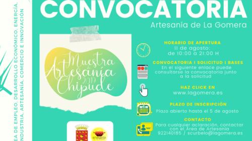 El Cabildo de La Gomera abre el plazo de inscripción para participar en la Muestra de Artesanía de Chipude