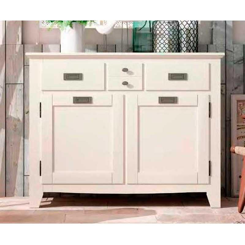 Mueble Aparador de estilo colonial blanco El TavolinoAlfafar