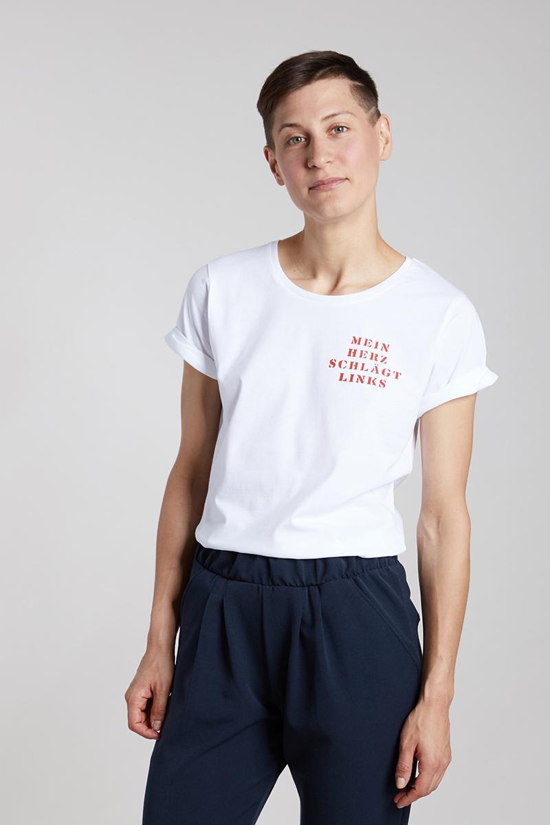 MEIN HERZ SCHLÄGT LINKS - Damenshirt von Elternhaus
