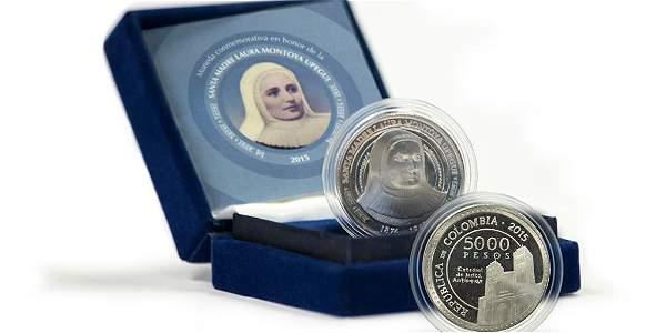 El Banco de la República puso en circulación la moneda en homenaje a la primera santa colombiana.