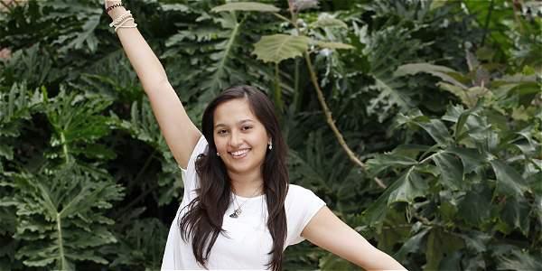 Natalia, 21 años, ganadora en la categoría Excelencia Académica del concurso Mujeres Jóvenes Talento.