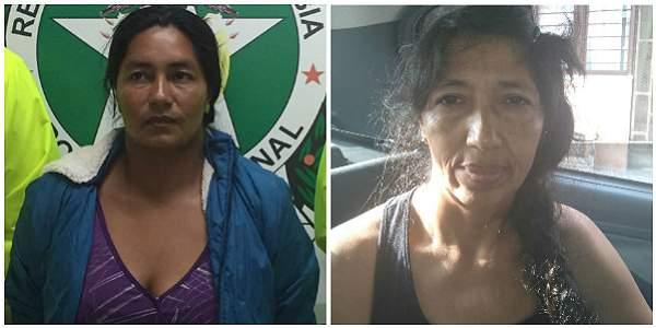 Gladys Yolanda Pinta y Blanca Digna López López fueron capturadas por la Policía.