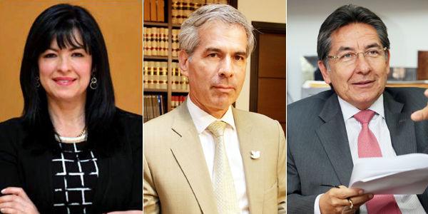 Mónica Cifuentes Osorio, Yesid Reyes Alvarado y Néstor Humberto Martínez Neira, integrantes de la terna propuesta por el Presidente.