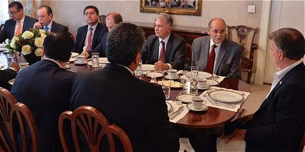 Este martes miembros del Partido Liberal se reunieron con presidente Juan Manuel Santos.
