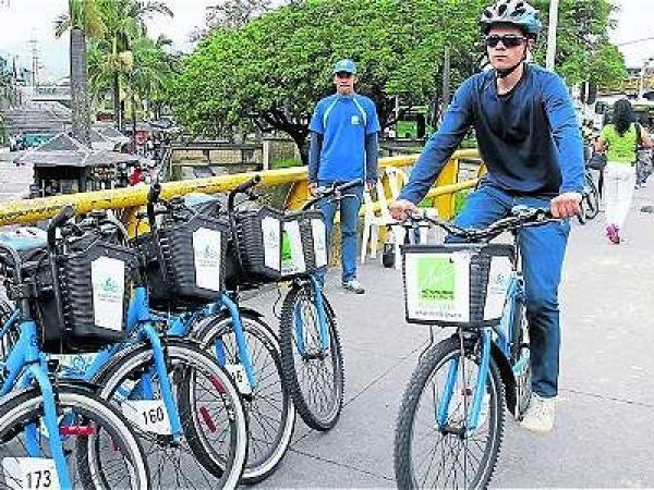 El programa Encicla permite que alrededor de 10.000 personas se movilicen cada día en bicicleta de forma gratuita. Actualmente se cuenta con 52 estaciones en el valle de Aburrá. Archivo/EL TIEMPO