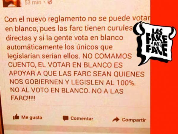 Falsa cadena sobre el voto en blanco