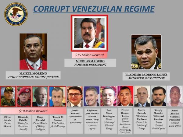 Cartel de acusación contra Maduro