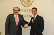 El Senado de la República hace un reconocimiento al deportista Carlos Franco