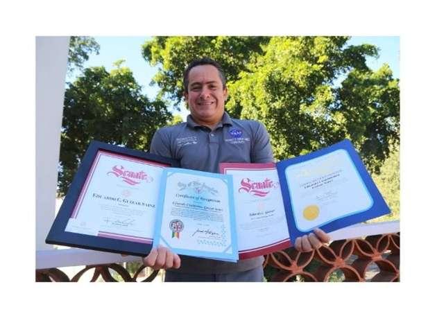 Talento Espacial mexicano reconocido en EU