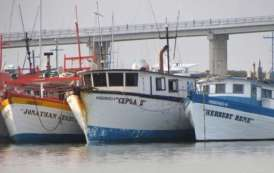 Actividad pesquera semiparalizada