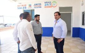 El alcalde supervisa avances del Consultorio Médico 24/7 en Chelem puerto