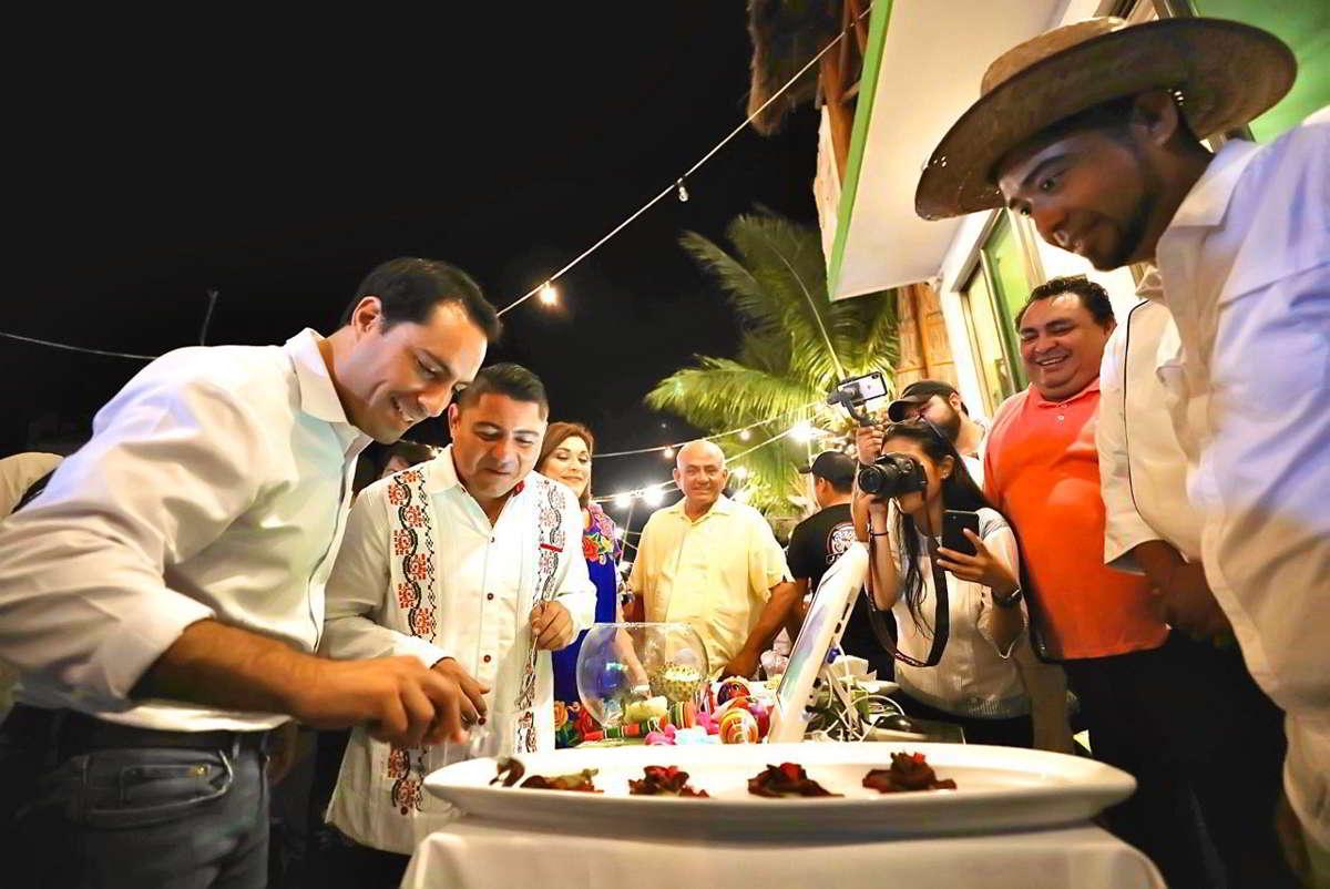 Inaugura el Gobernador Festival del Pulpo en Río Lagartos