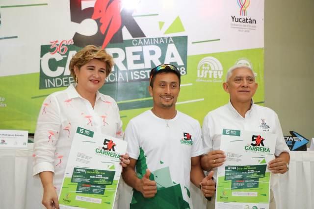 Isstey invita a participar en la tradicional carrera de la Independencia de México