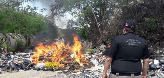 PGR, destruye diversos objetos de delito