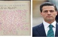 Niña le pide a Enrique Peña Nieto que deje de robar