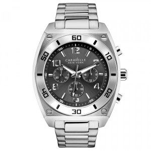 CARAVELLE NEW YORK BY BULOVA GENTS STAINLESS STEEL WATCH