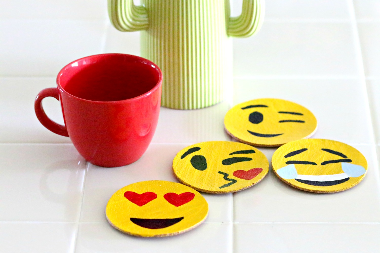 Emoji portavasos DIY