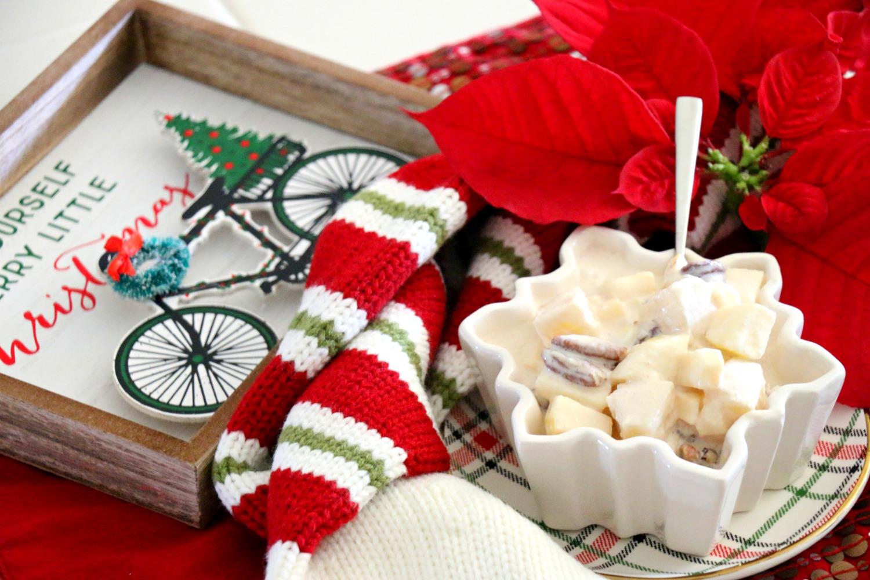 Ensalada navideña de manzana y piña