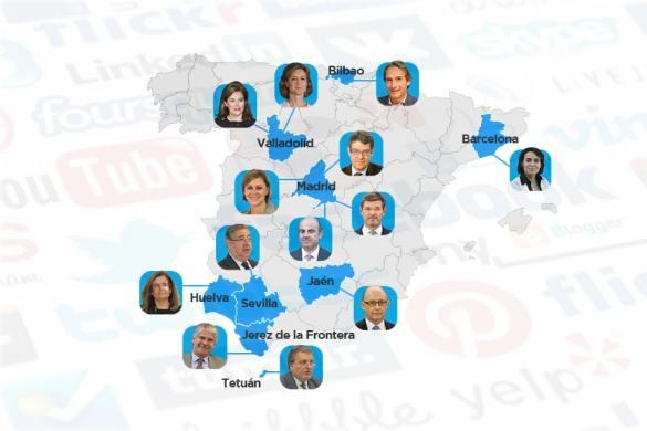 ministros en redes sociales