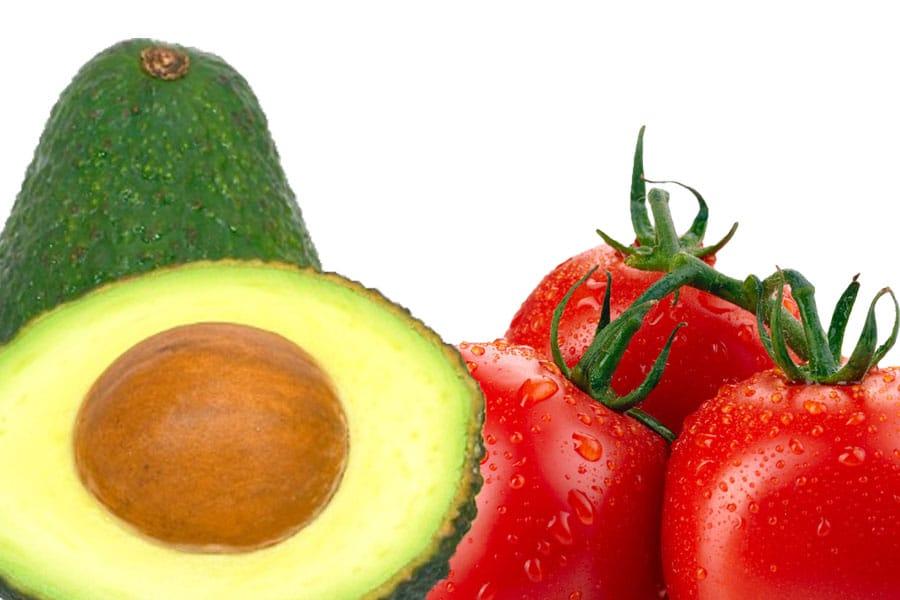 Propiedades del tomate y el aguacate