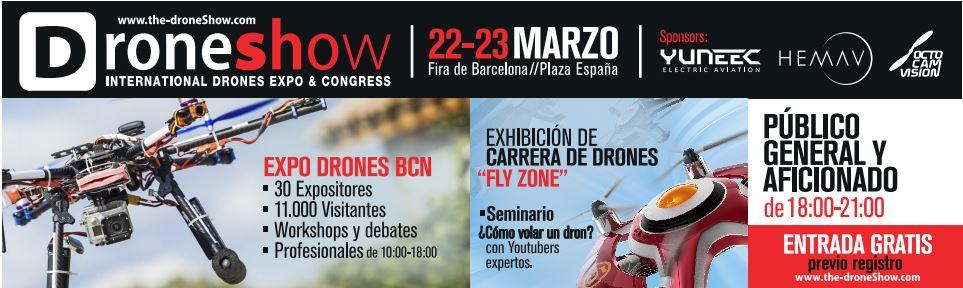 the drone show. Feria e Drones en Barcelona