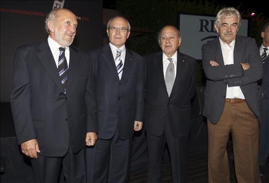 Ricardo Rodrigo con 3 presidentes de la Generalitat de Catalunya