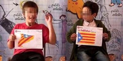 ¿Están adoctrinando a los niños como escudos humanos para el referéndum del 1 de octubre?