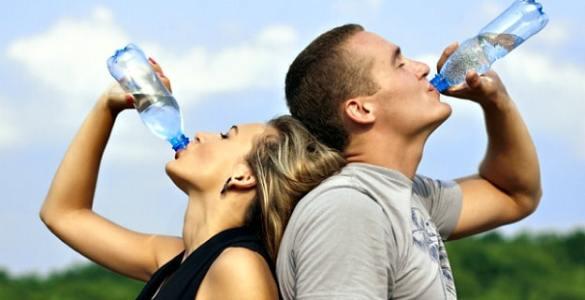 bajar peso con agua