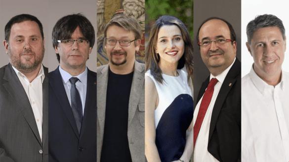 candidatos-elecciones catalanas 2017