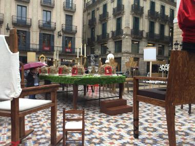 Los barceloneses en pie de guerra contra el Belén de Ada Colau.