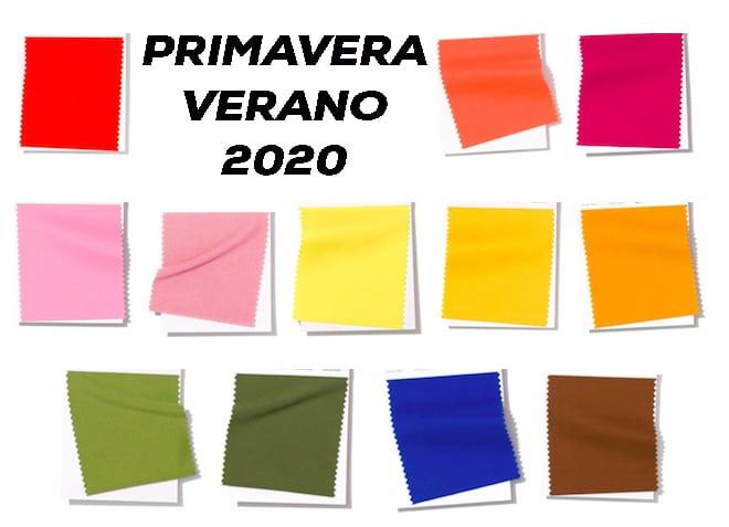 PRINCIPALES COLORES PARA LA PRIMAVERA VERANO 2020