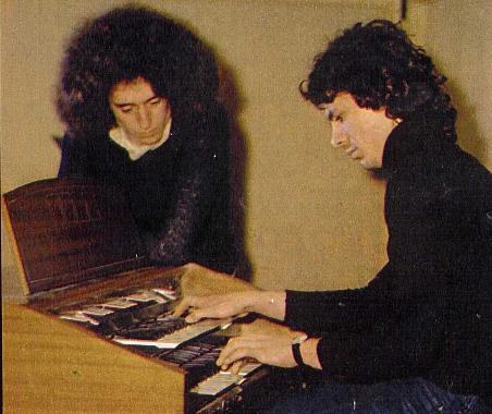 Angelo Branduardi e Paul Buckmaster, nel 1974