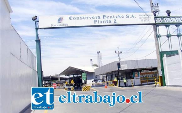 Frontis de la planta 2 Conservera Pentzke ubicado en avenida Manso de Velasco.